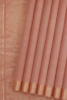 Mangalagiri Peach Cotton Saree (1)