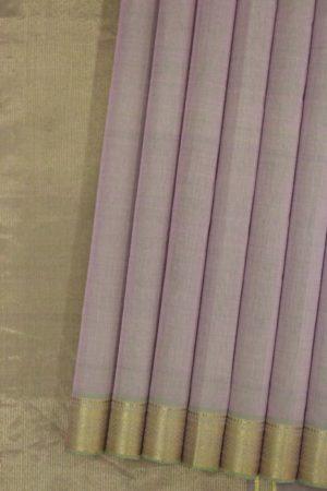 Mangalagiri Purple Pure Cotton Saree (1)