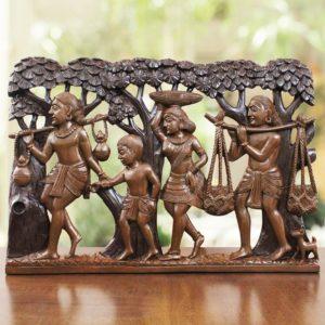 Tribal Family Bastar Wooden Craft 1