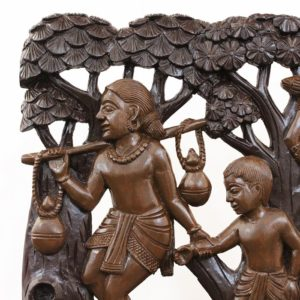Tribal Family Bastar Wooden Craft 2
