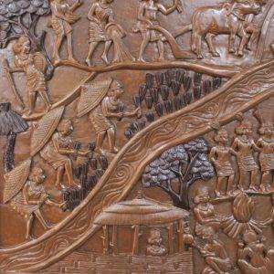 Bastar Village Wooden Artwork 2