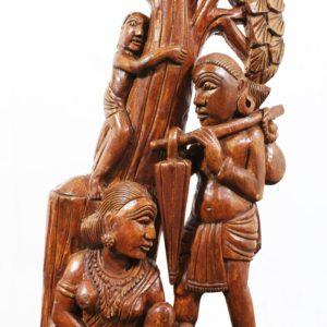 Bastar Wooden Tree Climbing Artwork 3
