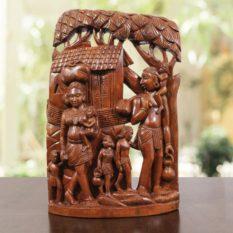 Bastar Wooden Tribal Life Artwork 1