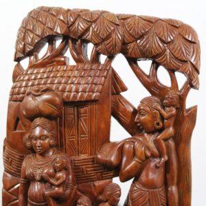 Bastar Wooden Tribal Life Artwork 2