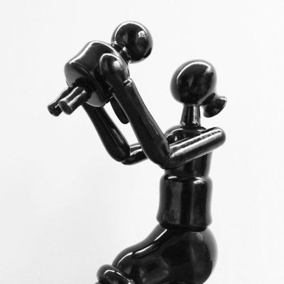 Black Wooden Sitting Mom Toy (3)