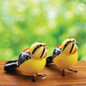 Black and Orange Sparrow Showpiece (1)