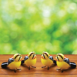Black and Orange Sparrow Showpiece (2)
