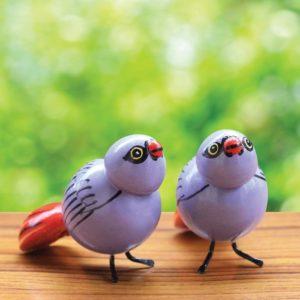 Blue Sparrow Showpiece (1)