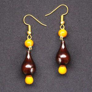 Brown cone bead necklace 2
