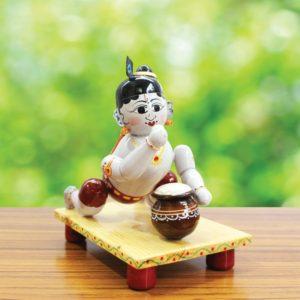 Etikoppaka Crawling Krishna Toy (1)