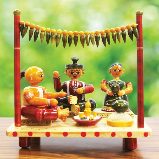 Etikoppaka Marriage Set Wooden Craft (1)