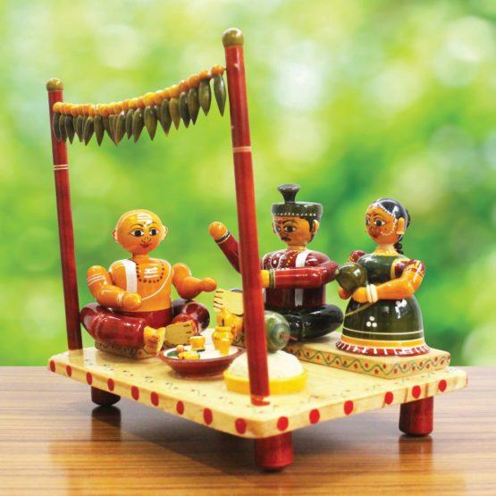 Etikoppaka Marriage Set Wooden Craft (2)