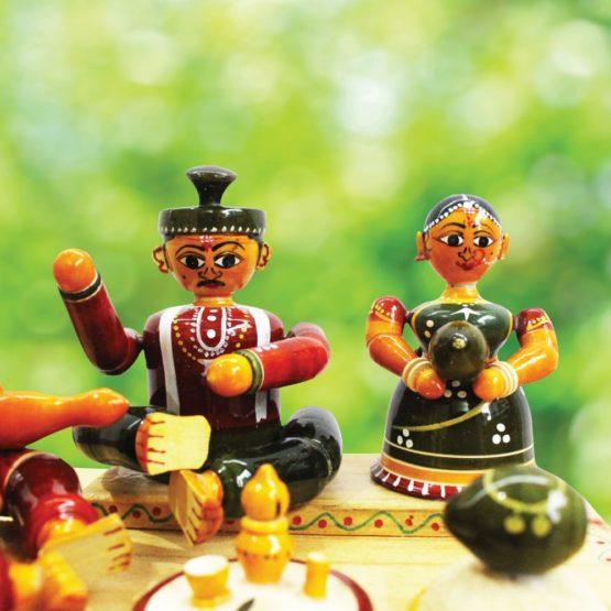 Etikoppaka Marriage Set Wooden Craft (3)
