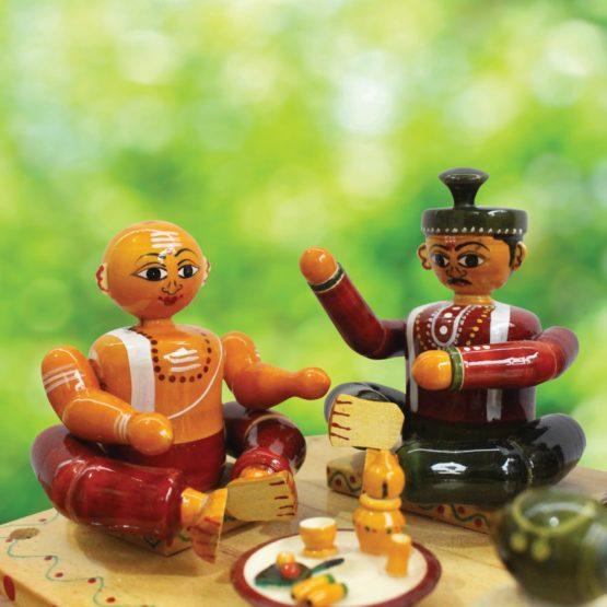 Etikoppaka Marriage Set Wooden Craft (4)