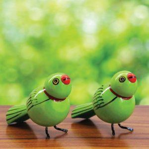 Green Sparrow Showpiece (1)