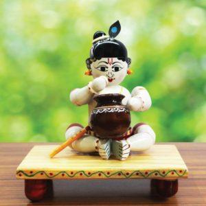 Krishna Wooden Craft Online (1)