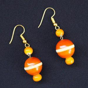 Orange round bead necklace - GiTAGGED 2
