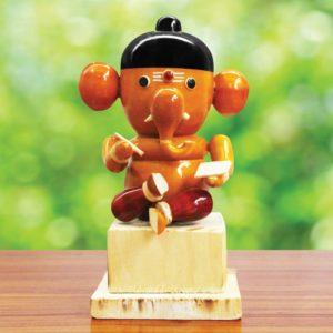 Vidya Ganapathi Wooden Craft (1)