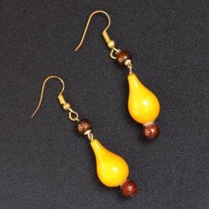 yellow round bead necklace 2