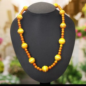 yellow round bead necklace - GI TAGGED 1