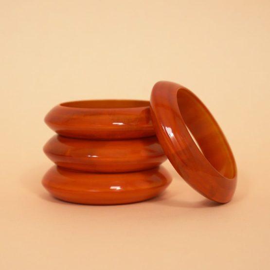 Channapatna Orange Wooden Bangle Online (2)