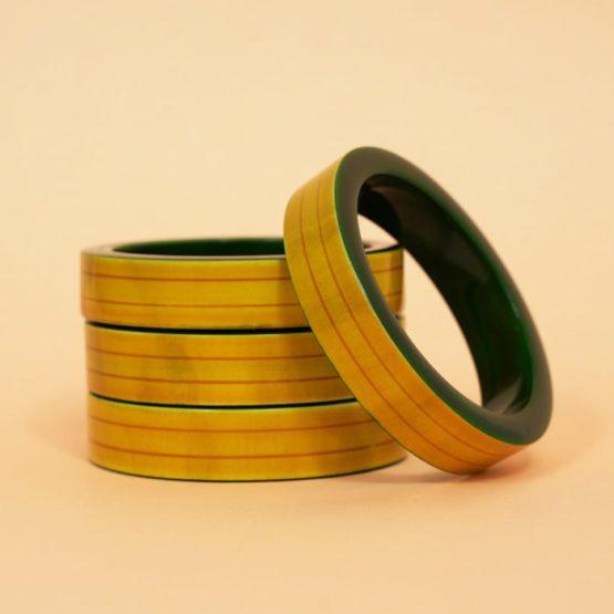 Channapatna Yellow Wooden Bangle - GiTAGGED (2)