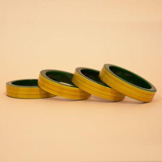 Channapatna Yellow Wooden Bangle - GiTAGGED (3)