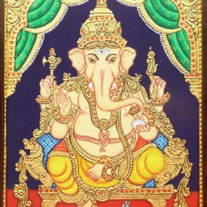 Traditional Ganesha Mysore Painting