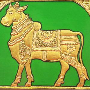Golden Cow Mysore Painting