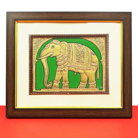 Golden Elephant Mysore Painting