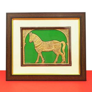 Golden Horse Mysore Painting