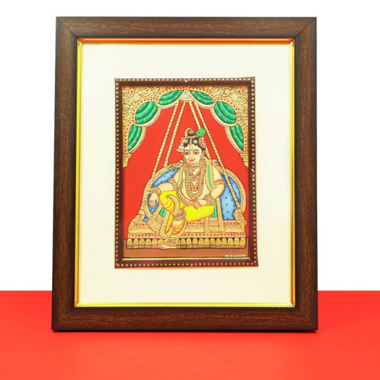 Krishna Mysore Painting (22KT Gold Leaf) 1