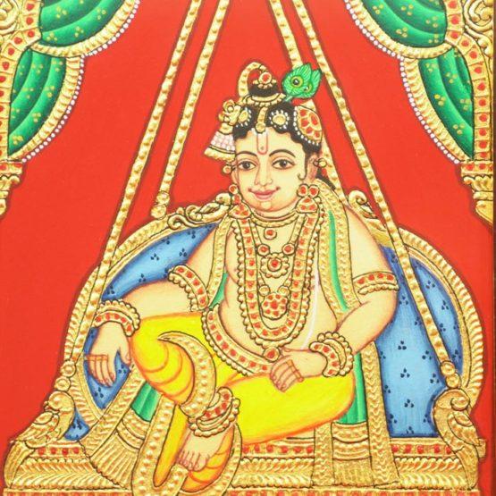 Krishna Mysore Painting (22KT Gold Leaf)