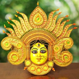 Flame Design Devi Chau Mask Gold