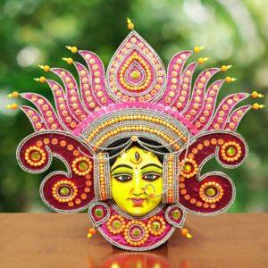 Flame Design Devi Chhau Mask Pink