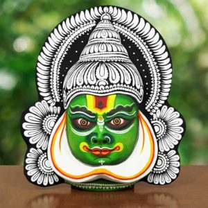 Kathakali Face Chau Mask Black Green Style 3