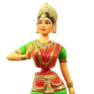 Thirukannur Papier Mache Bharatanatyam Dancing Doll