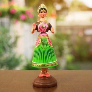 Thirukannur Papier Mache Dancing Doll Putta Bomma