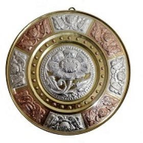 Gi-tagged-tamil-nadu-thanjavur-art-plate-handcrafted-silver-and-brass-plates
