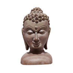 GiTAGGED Konark Stone Carving Buddha Face Sculpture 8 Inchs 1