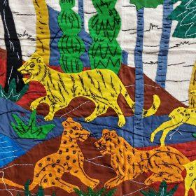 GiTAGGED Pipli Applique Wildlife Wall Hanging (5x1.6) feet 5