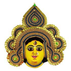 Golden Devi Chhau Mask - Tharkozi Design (1.5Ft) 1