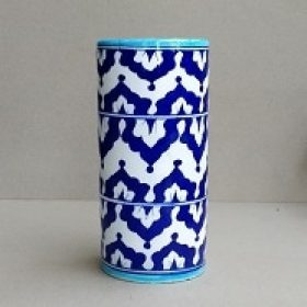Authentic GI Tagged Jaipur blue pottery - Handcrafted Vases, Vibrant Plates, Incense stick holder, Hooks and Hangers for home, living and kitchen